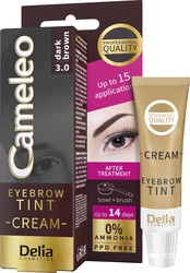 Delia Cosmetics - Delia Cameleo Eyebrow Tint Cream 3.0 Dark Brown