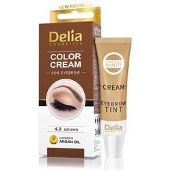Delia Cosmetics - Delia Cream For Eyebrows 4.0 Brown With Argan Oil
