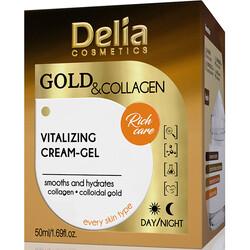Delia Cosmetics - Delia Cosmetics Gold & Collagen- Altın&Kolajen İçeren Canlandırıcı Yüz Kremi 50 mk