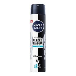Nivea - Nivea Men Black & White Invisible Fresh Erkek Deodorant Sprey 200 ml